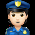 👮🏻 police officer: light skin tone Emoji on Apple Platform