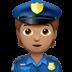 Medium Skin Tone Police Officer