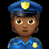 👮🏾 police officer: medium-dark skin tone Emoji on Apple Platform