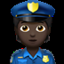 Dark Skin Tone Police Officer