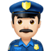 👮🏻‍♂️ man police officer: light skin tone Emoji on Apple Platform