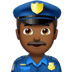 👮🏾‍♂️ man police officer: medium-dark skin tone Emoji on Apple Platform
