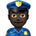 👮🏿‍♂️ man police officer: dark skin tone Emoji on Apple Platform