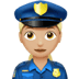👮🏼‍♀️ woman police officer: medium-light skin tone Emoji on Apple Platform