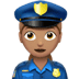 👮🏽‍♀️ woman police officer: medium skin tone Emoji on Apple Platform