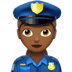 Woman Police Officer: Medium-dark Skin Tone