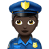 Woman Police Officer: Dark Skin Tone