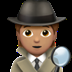 🕵🏽 detective: medium skin tone Emoji on Apple Platform