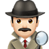 🕵🏻‍♂️ man detective: light skin tone Emoji on Apple Platform