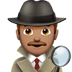 🕵🏽‍♂️ man detective: medium skin tone Emoji on Apple Platform