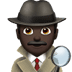 🕵🏿‍♂️ man detective: dark skin tone Emoji on Apple Platform