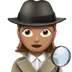 🕵🏽‍♀️ woman detective: medium skin tone Emoji on Apple Platform