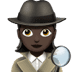 🕵🏿‍♀️ woman detective: dark skin tone Emoji on Apple Platform