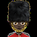 💂🏿 guard: dark skin tone Emoji on Apple Platform