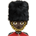 💂🏿‍♀️ woman guard: dark skin tone Emoji on Apple Platform