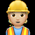 Medium Light Skin Tone Construction Worker