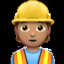 👷🏽 construction worker: medium skin tone Emoji on Apple Platform