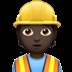 Dark Skin Tone Construction Worker