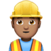 👷🏽‍♂️ man construction worker: medium skin tone Emoji on Apple Platform