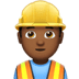 Man Construction Worker: Medium-dark Skin Tone
