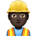 Man Construction Worker: Dark Skin Tone