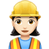 👷🏻‍♀️ woman construction worker: light skin tone Emoji on Apple Platform