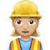 Woman Construction Worker: Medium-light Skin Tone