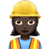 👷🏿‍♀️ woman construction worker: dark skin tone Emoji on Apple Platform