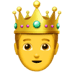 🤴 Prince Emoji on Apple Platform
