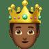 🤴🏾 prince: medium-dark skin tone Emoji on Apple Platform