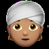 👳🏽 person wearing turban: medium skin tone Emoji on Apple Platform