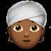 👳🏾 person wearing turban: medium-dark skin tone Emoji on Apple Platform