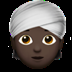 👳🏿 person wearing turban: dark skin tone Emoji on Apple Platform