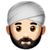 👳🏻‍♂️ man wearing turban: light skin tone Emoji on Apple Platform