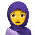 🧕 woman with headscarf Emoji on Apple Platform