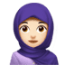🧕🏻 woman with headscarf: light skin tone Emoji on Apple Platform