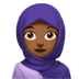 🧕🏾 woman with headscarf: medium-dark skin tone Emoji on Apple Platform