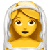 👰 bride with veil Emoji on Apple Platform