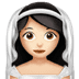 👰🏻 Light Skin Tone Bride With Veil Emoji on Apple Platform