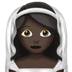 👰🏿 bride with veil: dark skin tone Emoji on Apple Platform