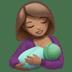 Medium Skin Tone Woman Breast Feeding