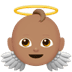 👼🏽 baby angel: medium skin tone Emoji on Apple Platform