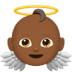👼🏾 Medium Dark Skin Tone Baby Angel Emoji on Apple Platform