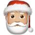 🎅🏼 Santa Claus: medium-light skin tone Emoji on Apple Platform