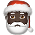 🎅🏿 Santa Claus: dark skin tone Emoji on Apple Platform