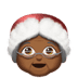 Medium Dark Skin Tone Mrs. Claus