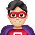 🦸🏻‍♂️ man superhero: light skin tone Emoji on Apple Platform