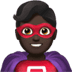🦸🏿‍♂️ man superhero: dark skin tone Emoji on Apple Platform