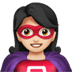 🦸🏻‍♀️ woman superhero: light skin tone Emoji on Apple Platform