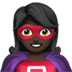 🦸🏿‍♀️ woman superhero: dark skin tone Emoji on Apple Platform